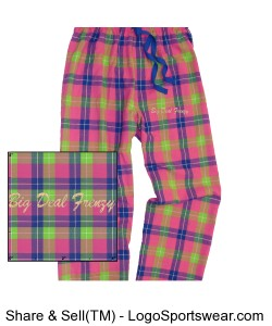 Juniors Drawstring Flannel Pants (unisex - for Men and Women) Design Zoom